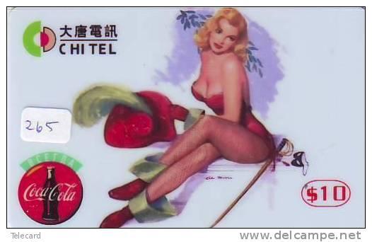COCA-COLA Telecarte (265) CHINA CHINE  PHONECARD COKE SEXY LADY - Chine