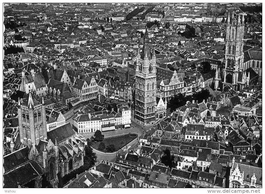 GAND   -   Vue Générale De La Ville (Vue Prise En Avion)      (La Date Du 24 Août 1956 Est Notée Au Verso De La Carte) - Gent