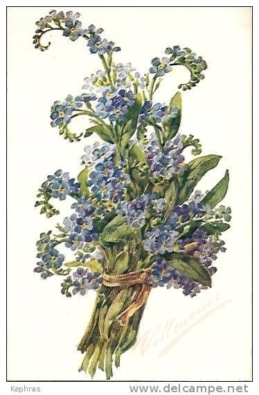 Illustrateur VILLENEUVE - 530 MYosotis - Courrier De 1920 - Illustrateurs & Photographes