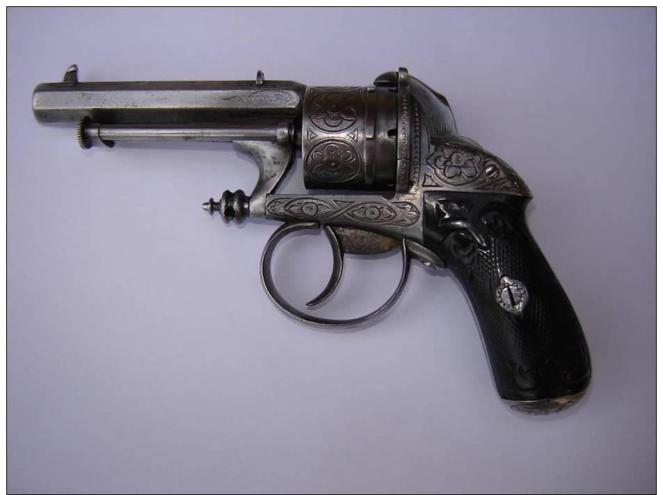 Revolver Chamelot Delvigne 7mm A Broche - Armi Da Collezione