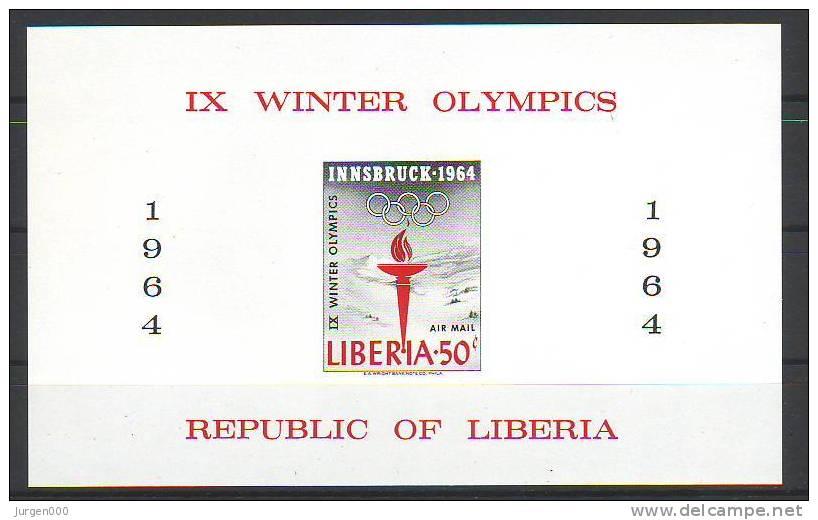 Liberia, BL28B **, Michel = ?? Euro (Z14995) - Winter 1964: Innsbruck