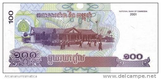CAMBOYA  100 RIELS  2001  KM#53  PLANCHA/SC/UNC   DL-5938 - Cambodia