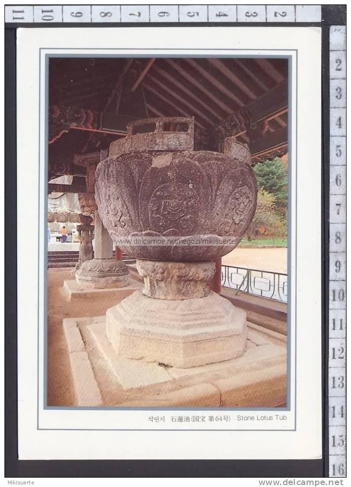 M6221 SOUTH KOREA - STONE LOTUS TUB (NATIONAL TREASURE) F/G Cartolina-Postcard - Corea Del Sud