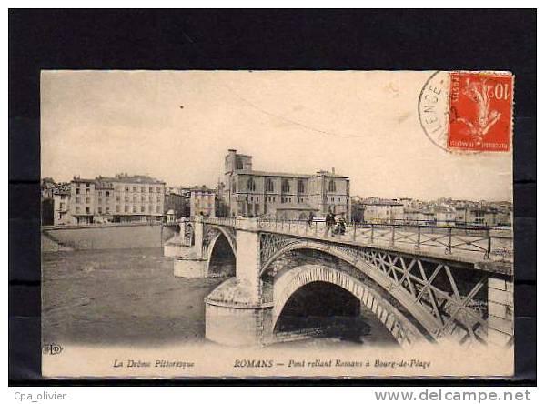 26 ROMANS Pont, Pont Reliant Romans à Bourg De Péage, Vue Générale, Ed ELD, Drome Pittoresque, 1914 - Romans Sur Isere