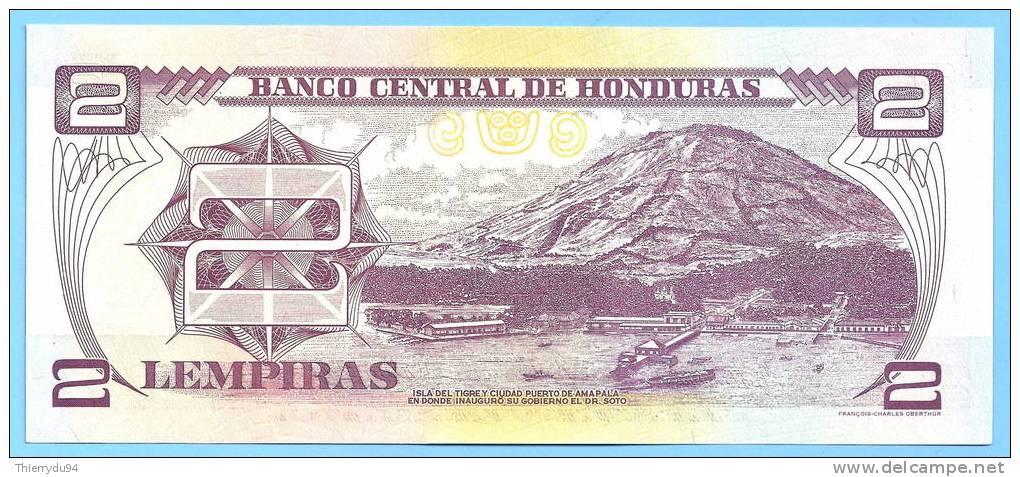 Honduras 2 Lempiras 2004 UNC Uncirculated Neuf Lempira Lampira Lampiras Centavo Centavos Cent - Honduras