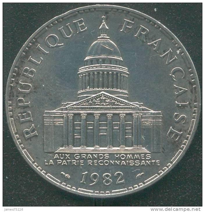 100FRF Argent 1982 – Type Panthéon. TB - France