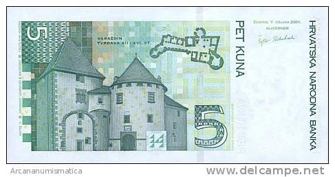 CROACIA  5  KUNA  2001  KM#28?  PLANCHA/SC/UNC   DL-6009 - Croatie