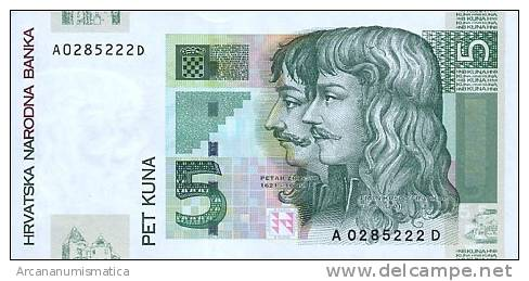 CROACIA  5  KUNA  2001  KM#28?  PLANCHA/SC/UNC   DL-6010 - Croatie