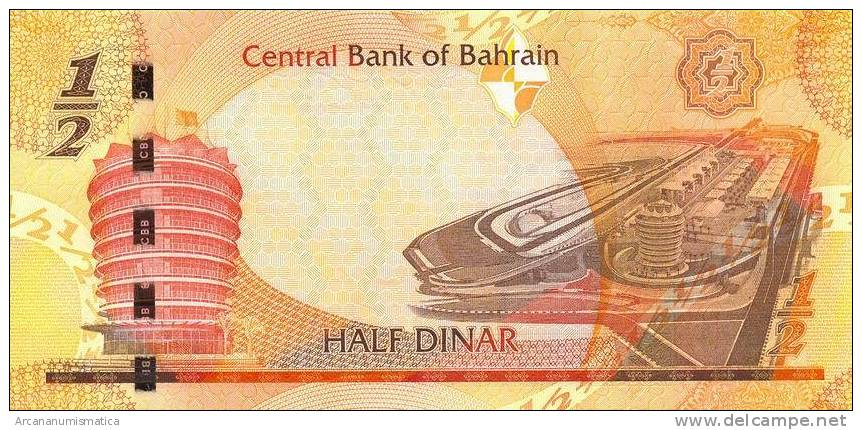 BAHRAIN  1/2  DINAR  2006  (2008)  PLANCHA/SC/UNC    DL-6034 - Bahrein