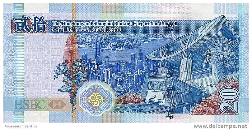 HONG  KONG    20  DOLARES  1-7-2003  SC/UNC/PLANCHA     DL-6065 - Hong Kong