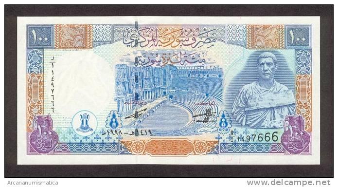SYRIA   100 POUNDS  1998  KM#108  PLANCHA/SC/UNC    DL-6116 - Siria