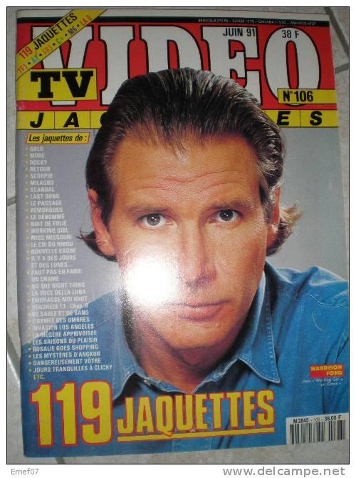 Tv Vidéo Jaquettes ,livres,revues,cinéma, Film,harrison Ford N° 106 - Cinéma