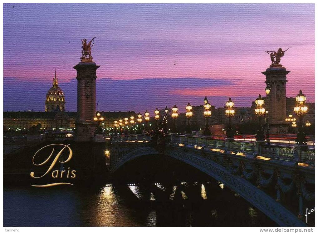 PARIS PONT ALEXANDRE III ET LES INVALIDES - Ponti