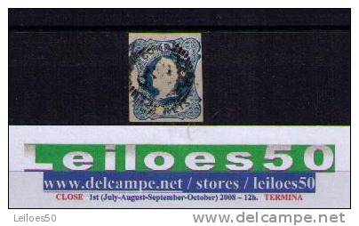D.MARIA QUEEN  Portugal 2nd Stamp (1853)  USED  25reis Blue NICE #87021 - 1853 : D.Maria