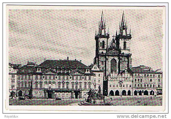 Praha Hus Denkmal Teinkirche - Tchéquie