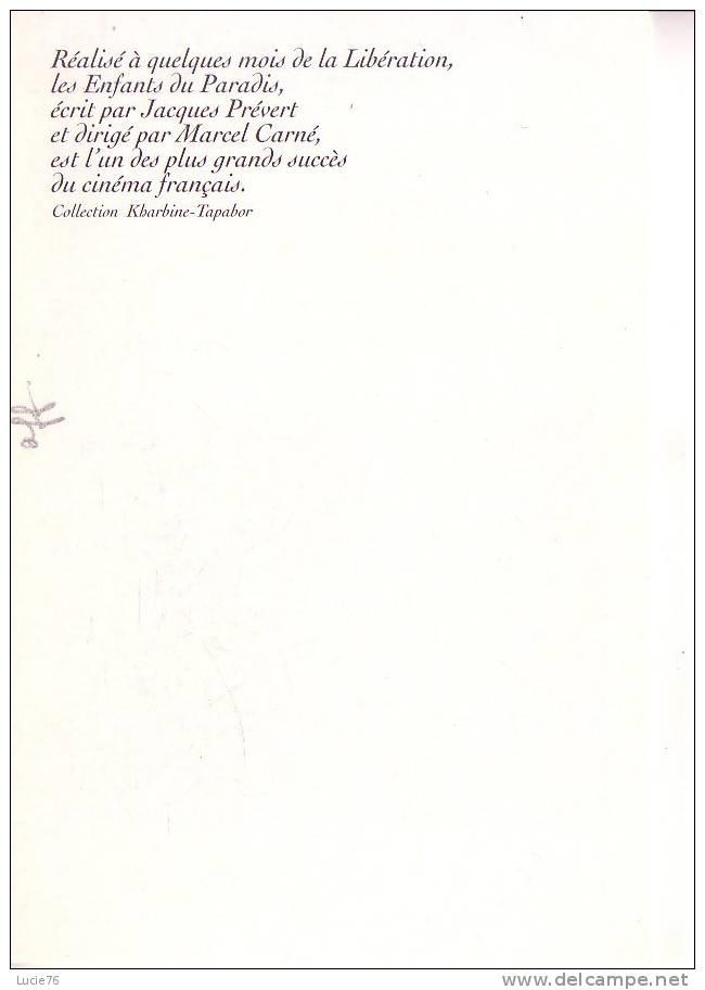 """CPM -Collection  Du 20ème Siècle - D´après  AFFICHE Du FILM  """" LES ENFANTS DU PARADIS """" - Affiches Sur Carte"""