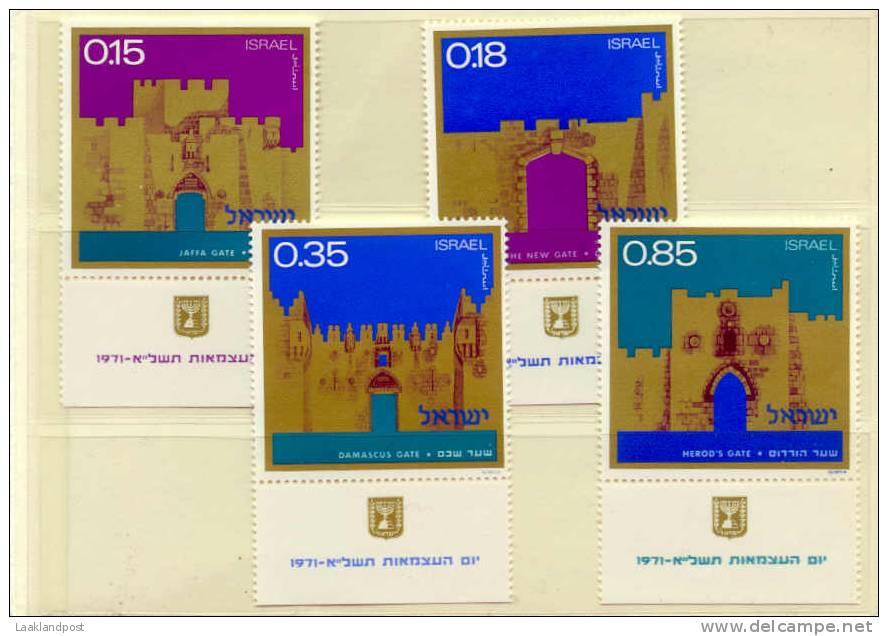 Israel 1971 Gates Of Jerusalem Michel Nrs. 552/555 Mint (E176) - Israël