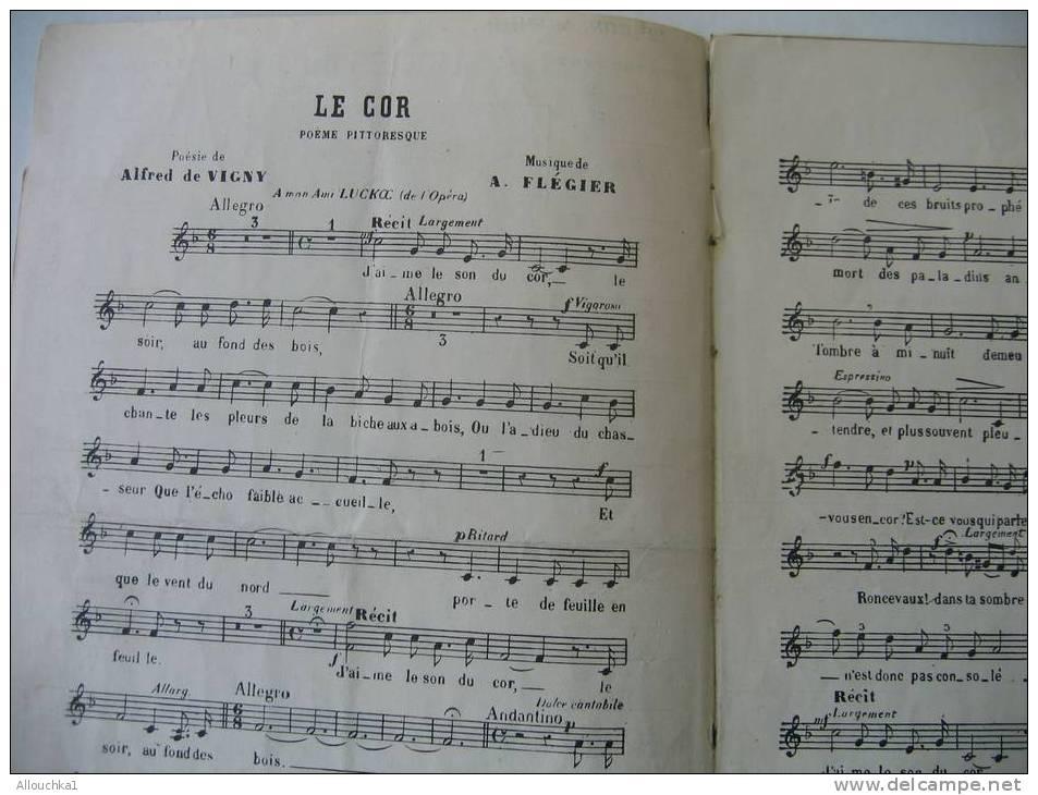 """MUSIQUE- PARTITION:""""LE COR""""& HAMLET EDITION POUR CHANT SEUL - Musik & Instrumente"""