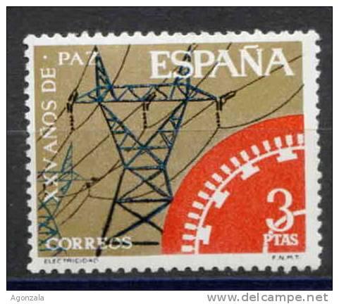 TIMBRE ESPAGNE NOUVEAU ENERGIE TOUR DE ELECTRICITE - Electricidad