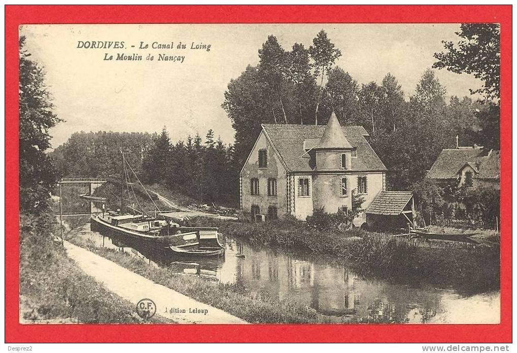 45 DORDIVES Cpa Peniche Le Moulin De Nançay                   Edit Leloup - Dordives