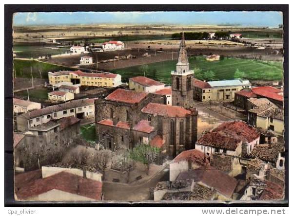 34 VIAS (envs Agde) Eglise, Vue Générale Aérienne, Ed Lapie 2, En Avion Au Dessus De, CPSM 10x15, 196? - France