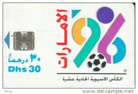 UNITED  ARAB  EMIRATES  30 D  SOCCER FOOTBALL  ASIAN CUP 1996   CHIP  READ DESCRIPTION !! - United Arab Emirates