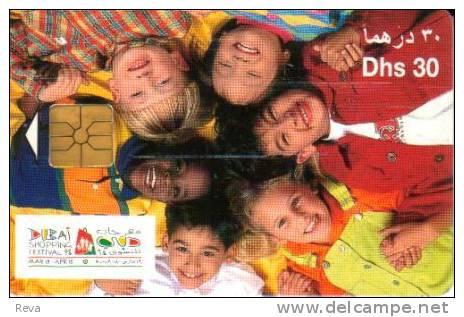 UNITED ARAB EMIRATES  30 DH  WOMAN CHILD CHILDREN  DUBAI 1998 CHIP SPECIAL PRICE !! - United Arab Emirates