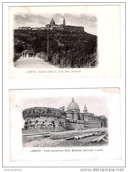 LORETO - 2 Cartoline FP 1904 - 1908 (condizioni Non Buone) - Italia