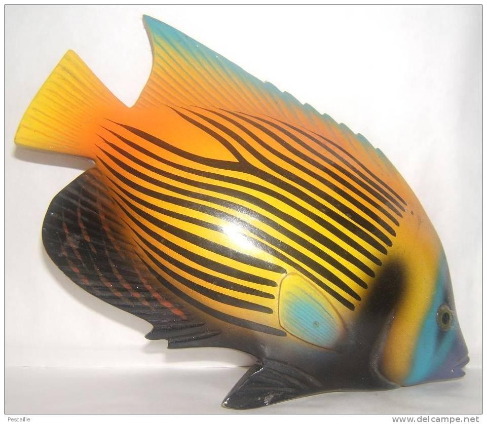 POISSON EN BOIS 25 X 15 POISSON ANGE Pomacanthus Imperator - Aquaristik