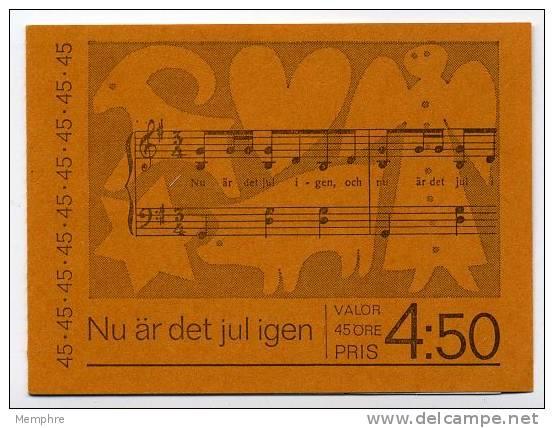 1972  Carnet   Noël   Facit H 261 No. De Contrôle - 1951-80