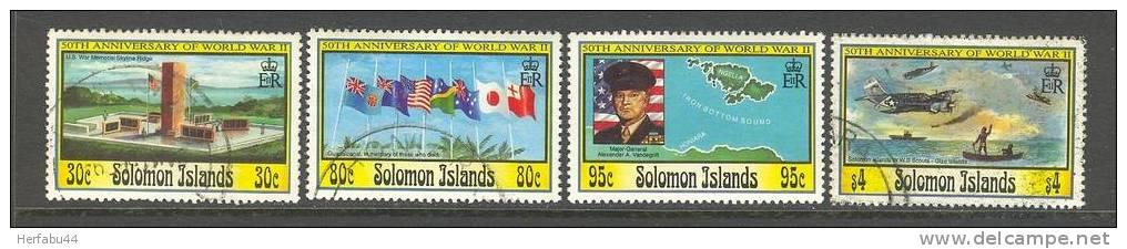 "Solomon Islands      "" World War II""       Set       SC# 748-51 - Solomon Islands (1978-...)"