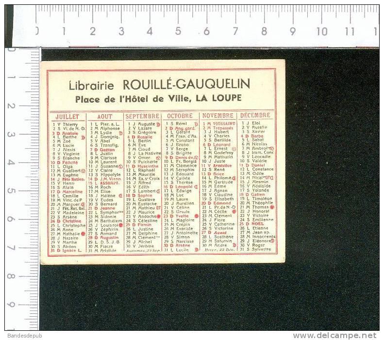 La Loupe Eure Et Loir Mini Calendrier 1938 Imprimerie Rouillé Gauquelin Librairie - Calendars