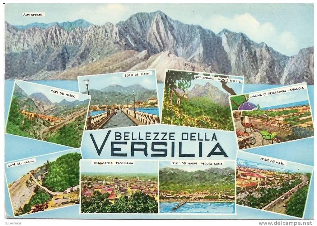 Bellezze Della Versilia-vedutine Card Viaggiata - Massa
