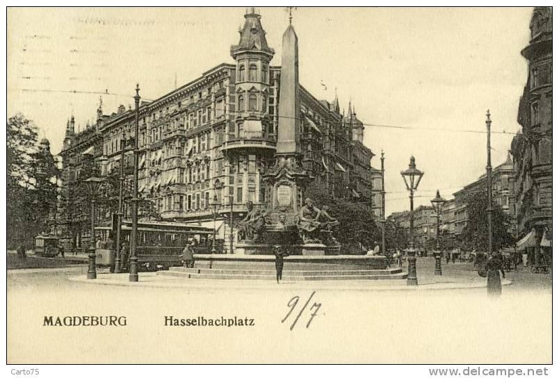 ALLEMAGNE - Magdeburg - Hasselbachplatz - Tramway - Magdeburg