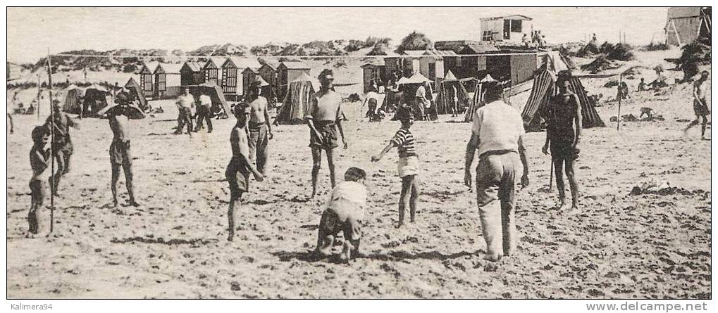 SOMME  /  FORT-MAHON-PLAGE  /  LA  PLAGE  ( Une Partie De BEACH-VOLLEY = VOLLEYBALL ) - Volleyball