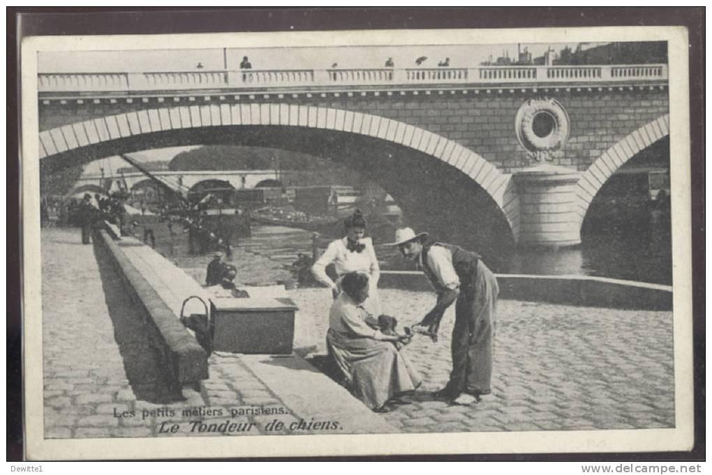 PARIS  - Les Petits Métiers Parisiens   LE TONDEUR DE CHIENS - Petits Métiers à Paris