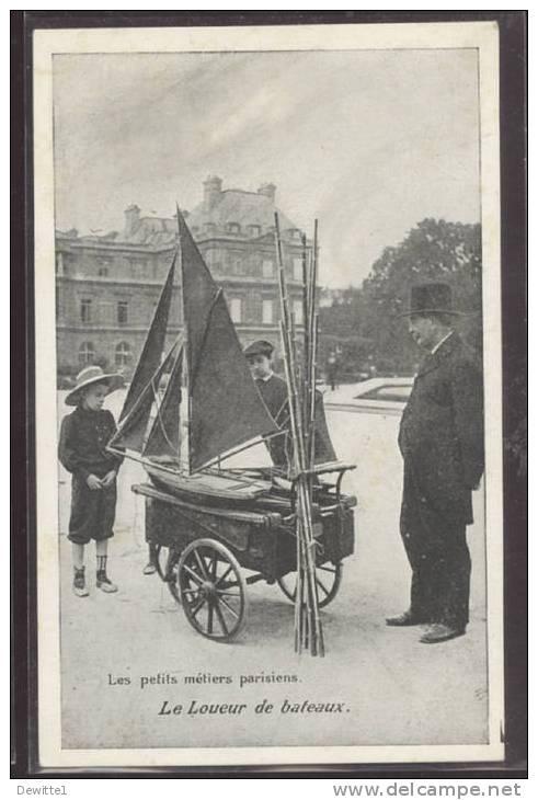 PARIS  - Les Petits Métiers Parisiens Le Loueur De Bateaux - Petits Métiers à Paris