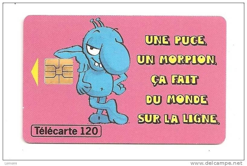 Une Puce Un Morpion ça Fait Du Monde Sur La Ligne -  Année   . 1996   . RARE  . 1 Scan.. - Jeux