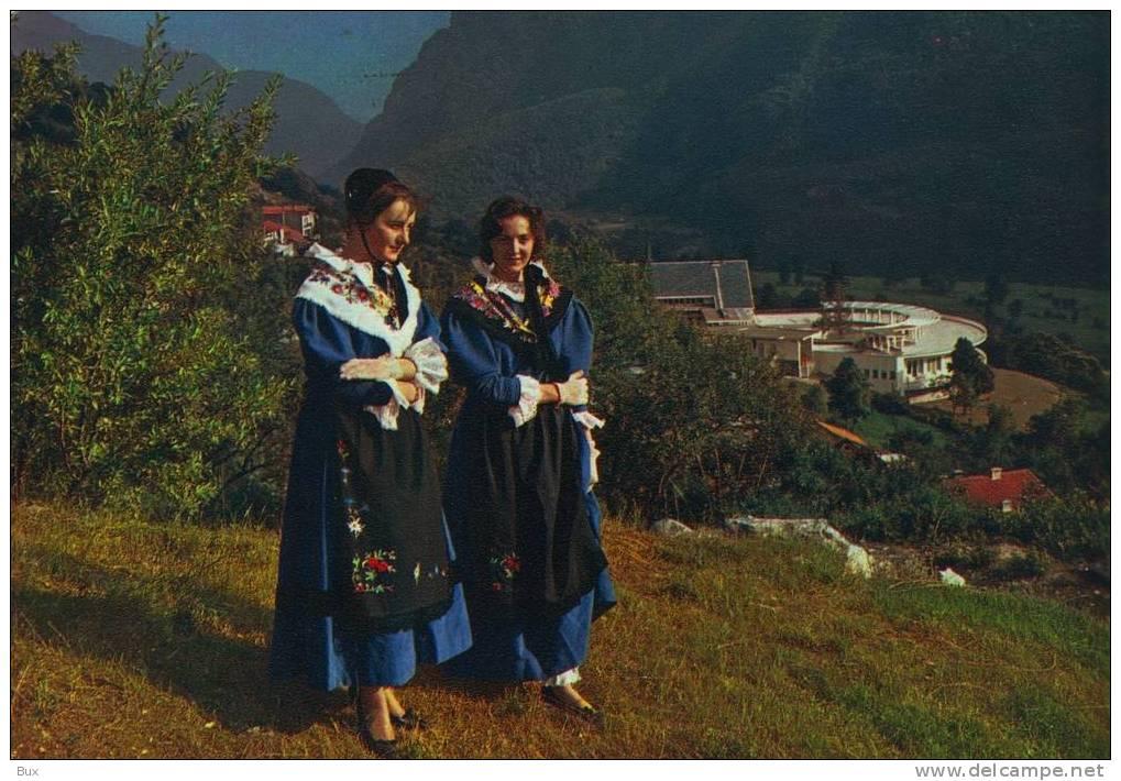 SAINT VINCENT AOSTA COSTUMI     VIAGGIATA COME DA FOTO ITALY ITALIE - Costumi