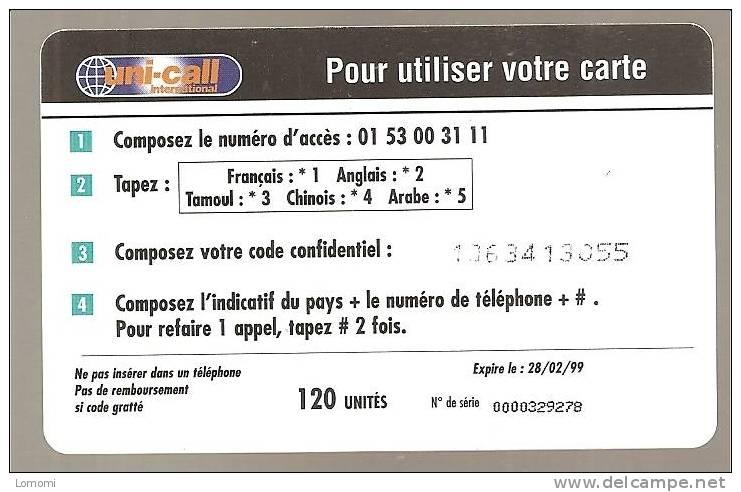 Uni Call International     -  Année   .  RARE  . 2 Scan.. - Herkunft Unbekannt