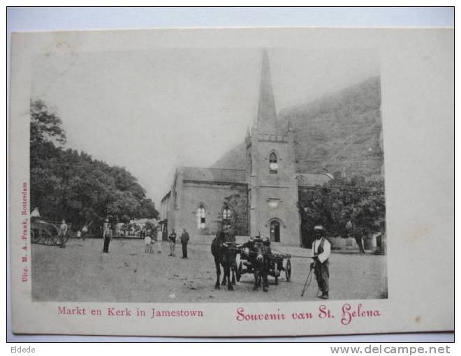 Markt En Kerk In Jamestown   St Helena Undivided Back - Saint Helena Island