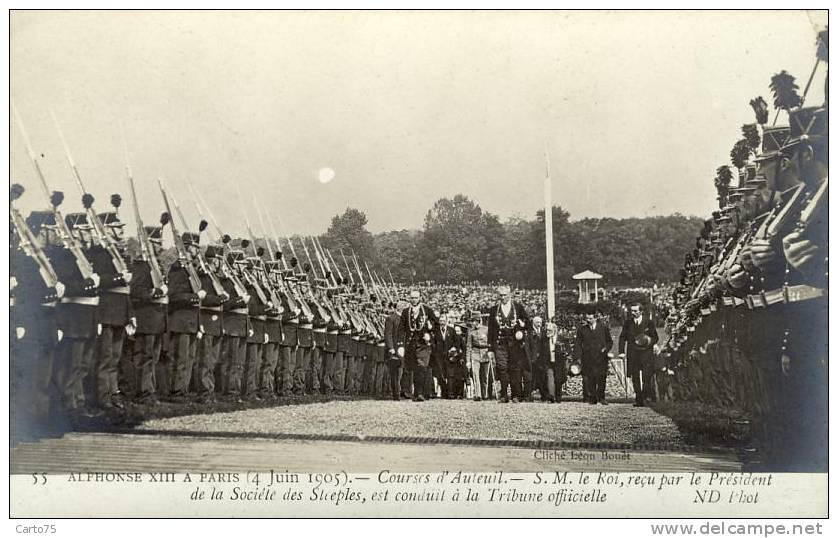 HISTOIRE - Champ De Courses - Auteuil 75016 - Alphonse XVIII Espagne - Garde Républicaine - Militaria - Historia