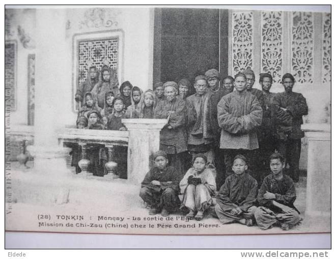 Moncay Sortie De L Eglise Mission De Chi Zau Chine Chez Le Pere Grand Pierre - Chine