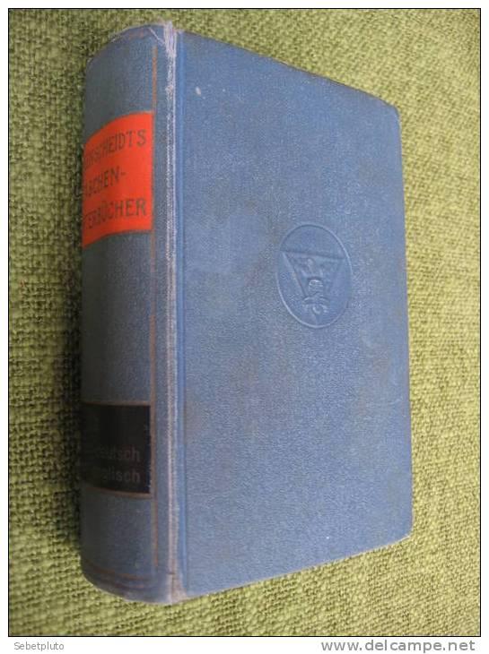 LANGENSCHEIDTS TASCHENWOERTERBUECHER 1929 - Dictionnaires