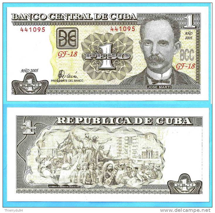 Cuba 1 Peso 2005 UNC Jose Marti Kuba Pesos Neuf Non Circulé. - Cuba