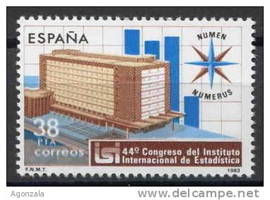 TIMBRE ESPAGNE NOUVEAU 1983 INSTITUT INTERNATIONAL DE STATISTIQUE - Ciencias