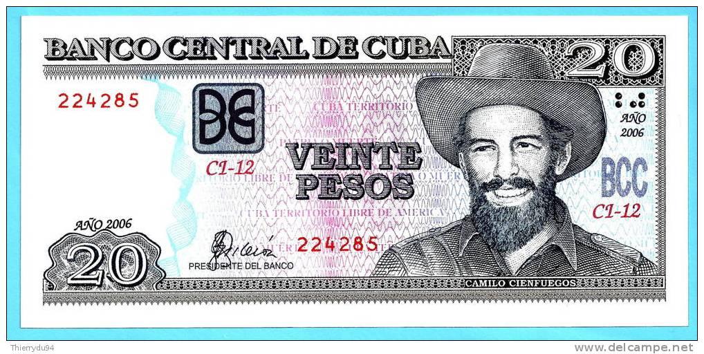 Cuba 20 Pesos 2006 UNC Peso Mint Centavo Cent Centavos - Cuba