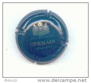 GERMAIN VERT FONCE ECRITURE ARGENT - Germain
