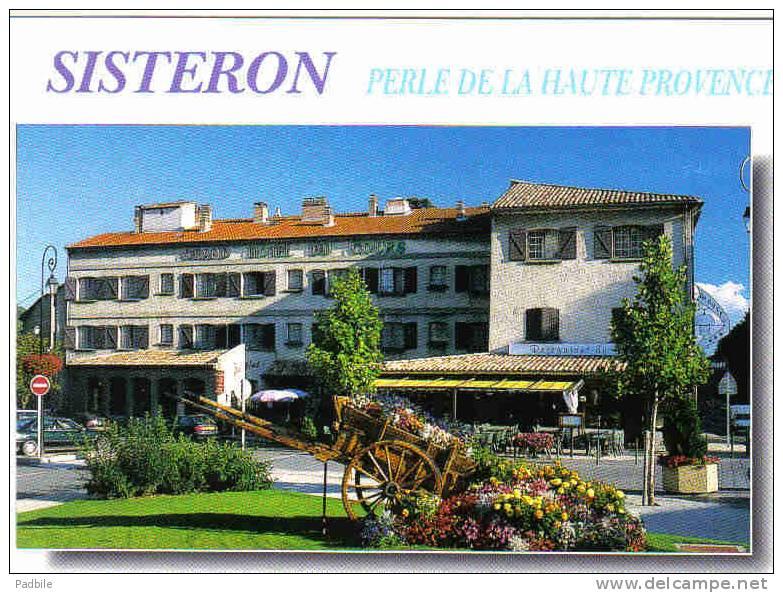 Carte Postale  04.  Sisteron Grand Hotel Du Cours  Trés Beau Plan - Sisteron
