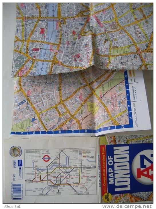 MAP - CARTE GEOGRAPHIQUE PLANS & RESEAUX DE LONDON-LONDRES DE 2003 ROYAUME-UNI -GRANDE-BRETAGNE - Europe